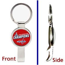 Washington Capitals Stanley Cup Champions Pendant Keychain secret bottle opener