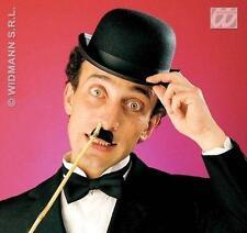 Black Felt Bowler Hat Cap Charlie Chaplin Gentleman Fancy Dress Costume Accessor
