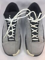 Nike Air Jordan Mens Gray and Black Gym Shoes 395468-038 US Size 10.5