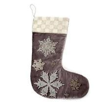 MacKenzie-Childs Traditional Handmade Fresh Snowflake Stocking Decoration
