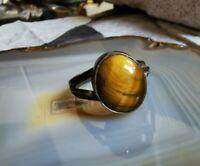 ring silber 925 mit kraftvollem tigerauge 4,3 g 17 mm ca 80er top
