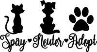 Spay Neuter Adopt Decal Window Bumper Sticker Car Dog Cat Pet Rescue Paw Love S