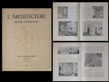 L'ARCHITECTURE 1937 ALGER, URBANISME, GUIAUCHAIN, CLARO SEILLER NIERMANS