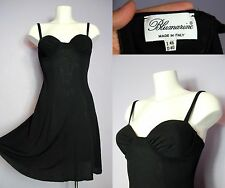 SALE BLUMARINE Black Stretchy Rayon Summer Cocktail Bustier Dress IT 46 UK 12