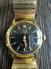 Renz+17+Jewels+Men%27s+Mechanical+Wrist+Watch+Gold+Plated+Black+Dial+Very+Rare
