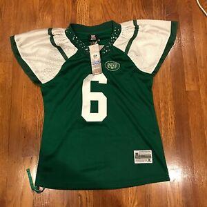 REEBOK New York Jets MARK SANCHEZ #6 NFL Football Jersey Bedazzle WOMENS Sz S