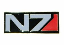 Mass Effect N7 Tactical Ops Logo 2″ Wide Metal Enamel Costume Pin