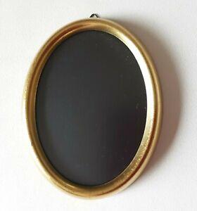 Holz Bilderrahmen Fotorahmen oval goldfarben Antik-Stil - 11 x 14 cm