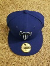 Tulsa Drillers New Era Authentic 59FIFTY Fitted Hat - Blue/Blue Rare Exclusive