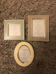 3 X Laura Ashley Photo Frames Picture Frames Silver Plated