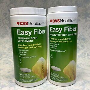 CVS Easy Fiber Prebiotic Fiber Supplement 17.6oz + 8.7oz Exp 02/22