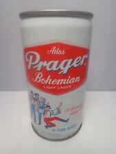 ATLAS PRAGER CRIMPED STEEL PULL TAB BEER CAN #36-5  HEILEMAN EVANSVILLE, IND
