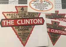 Clinton Engine, Donaldson Simplex 1946 Michigan Doodlebug Scooter set 4 decals
