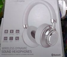 Goodmans Wireless  Headphones Silver Bluetooth Hands Free New Dynamic Sound
