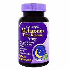 Natrol, Melatonin, Time Release, 5 mg, 100 Tablets sleep Schlaf hilft NF13