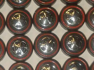 Hot Wheels Redline Red Line WHEEL TIRE Lot of 48 MEDIUM Cap Style -NICE!