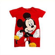 Baby Boy Girl Infant Romper Cartoon Mickey Jumpsuit Bodysuit One Piece Playsuit