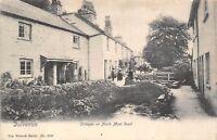 POSTCARD    SOMERSET   DULVERTON   Cottages on North Moor  Road  Circa  1905  RP