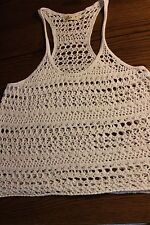 *HOLLISTER* Women's White Open Knit Sweater Top Size M