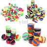 10-50PCS 3/5/7/22ML Silicone Containers Colorful Round Nonstick Jar Dab Storage