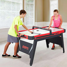 "ESPN 60"" Air Powered Hockey Table 2 Pucks Pushers Game Room Red Puck Top NEW"