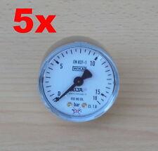 5 x DeltaP WIKA Druckanzeige 0 - 16 Bar Druckmessgerät Manometer - Norm EN 837-1