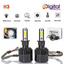 2 x H3 COB LED Headlight 6000K 40000LM Bulbs for Fog Light B