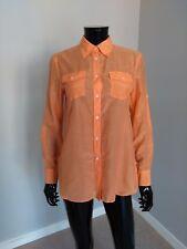 Ralph Lauren Denim & Supply cotton silk salmon pink orange short blouse XS