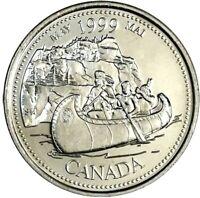 1999 Canada Millennium Series May 25 Cents Gem BU UNC Quarter!!