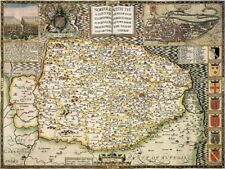 NORFOLK 1610 by John Speed - reproduction old map