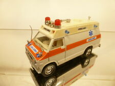 POLISTIL S64 DODGE VAN AMBULANCE - NEVADA - WHITE 1:34 - GOOD CONDITION