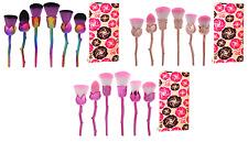 Unicornio Arco Iris Rosa Flor Maquillaje Pinceles Set 7 Piezas base en polvo de contorno