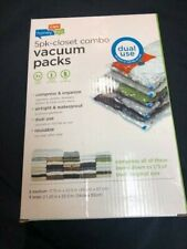 Honey-Can-Do-4-PK-Medium-Vacuum-Packs-Dual-Use-Closet-Space- Med and Large  New