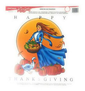 5 pcs Pack Happy Thanksgiving Reusable Window Cling Decoration