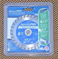 AVANTI PRO 4½'' CUT WET OR DRY DIAMOND TURBO BLADE Model: PD045T NNB