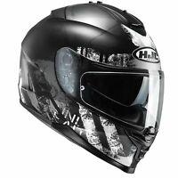 HJC IS-17 Shapy Graphic Motorcycle Bike Helmet Black Small (55-56cm)