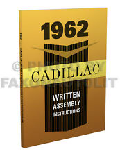 1962 Cadillac Assembly Manual Written Instruction Book for all models Factory