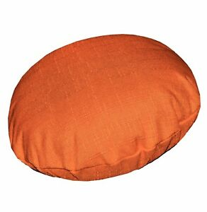 Qh06n Mandarin Orange Thick Cotton Blend Round Cushion Cover/Pillow Case Custom