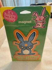 """HAPPY BUNNY MAGNET NEW IN PACK """" I JUST REALIZED I DON'T CARE """""""