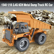 HuiNa Toys 1540 1/18 2.4G 6CH Metal  Alloy Dump Truck Engineering Vehicle RC Car