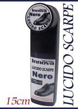 ds Lucida Scarpe Nero 75ml con Crema Pulizia Calzature Uomo Donna Lucido dfh
