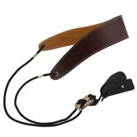 Adjustable Genuine Leather Saxophone Clarinet Neck Strap Single Shoulder Strap