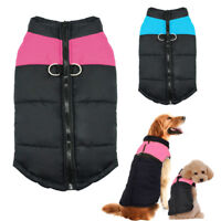 Waterproof Dog Clothes Dog Winter Coat Jacket Dogs Vest Pet Clothing S-7XL Pink