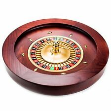Brybelly Casino Grade Deluxe Wooden Roulette Wheel, Red/Brown Mahogany, 18""
