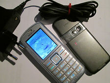 Nokia 6070 ARGENTO simfrei + parte di carico SUPER OK Gebr 49 H