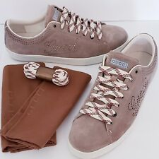 Gucci 202753 Khaki Sneakers, VERY RARE, Sz 10, Incl dust cover/box/xtra laces