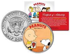 PEANUTS Valentines * CHARLIE BROWN & SNOOPY * JFK Half Dollar U.S. Coin LICENSED