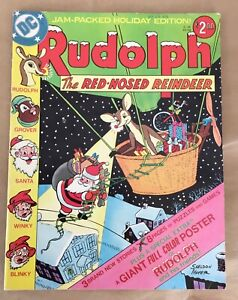 Rudolph the Red Nosed Reindeer DC treasury comic bk Sheldon Mayer 1976 no poster