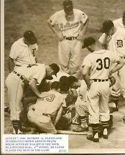 "August 7, 1956 Detroit vs Cleveland, Press Photo 8"" x 10"""
