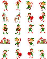 Cute Christmas Elves Waterslide Nail Decals/Nail art